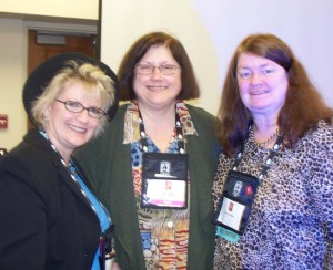 "Christie Craig, Faye Hughes, and me - just after their dynamic workshop ""Make It Happen: 10 Tips to Breaking In or Breaking Back In."""