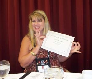 Jennifer Bray-Weber at the Hearts Through History Breakfast on Friday.