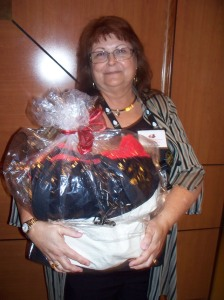 Winning KOD (& NJRW) Member Carolyn J. Coles with a KOD Raffle Bag.